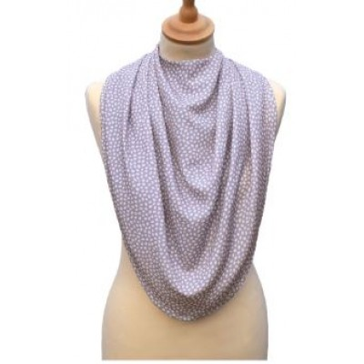 Pashmina Style Clothes Protector - Dotted Grey