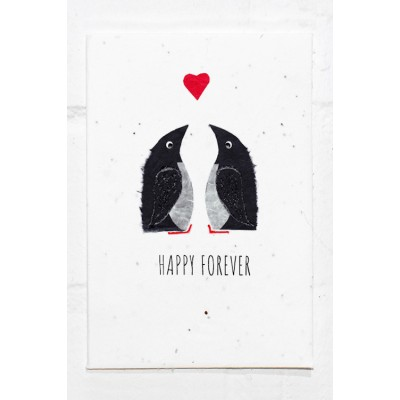 Eco Seed Happy Forever Penguins  - Single Card