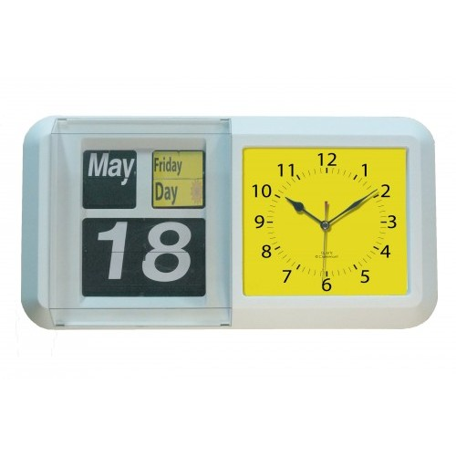 Large Automatic Day Night Flip Calendar Clock