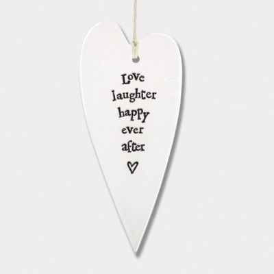 Porcelain long heart-Love, laughter Sign