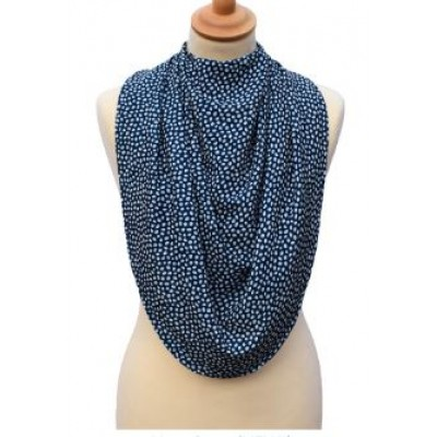 Pashmina Style Clothes Protector - Dotted Navy