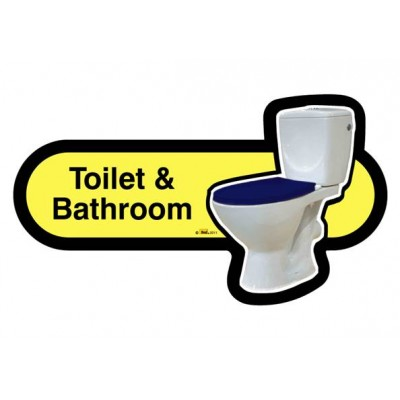 Toilet and Bathroom Sign