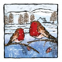 Robins Print Cards, Pack of 10