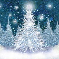 Silver Trees Cards, Pack of 10