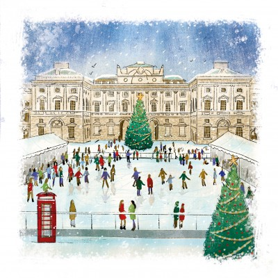 Skaters at Somerset House Cards, Pack of 10