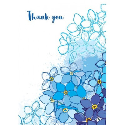 Thank you Forget-me-not cards pack of 10