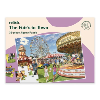 35 Piece Jigsaw Puzzle - The Fair's in Town