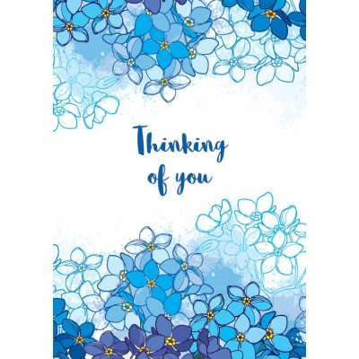 Thinking of you Forget-me-not cards pack of 10