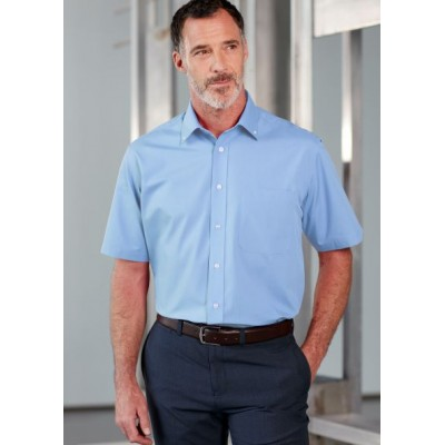 Hugh SS Classic Fit Velcro Non-Iron  Shirt
