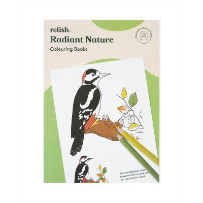 Radiant Nature Colouring Book