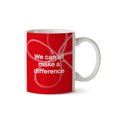 We can all make a difference mug