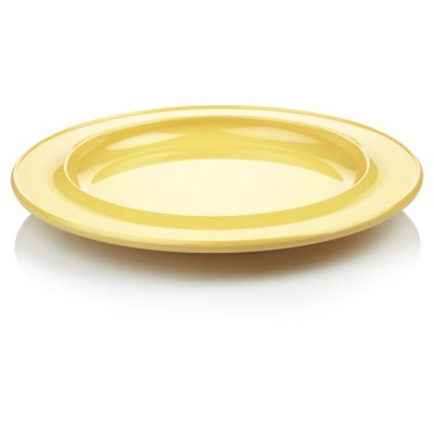 Yellow dining plate