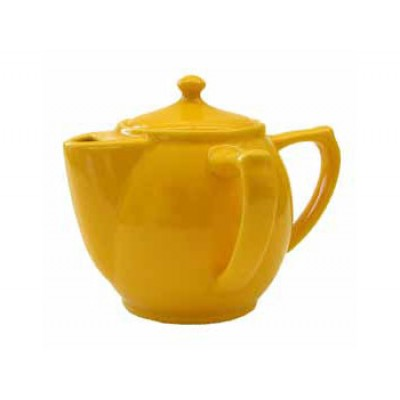"""Dignity"" Two handled tea pot yellow"