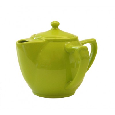 """Dignity"" Two handled tea pot green"