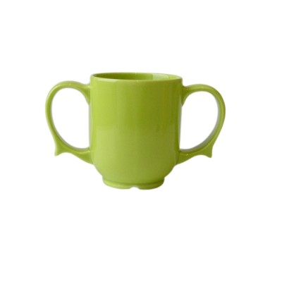 """Dignity"" Two handled mug green"