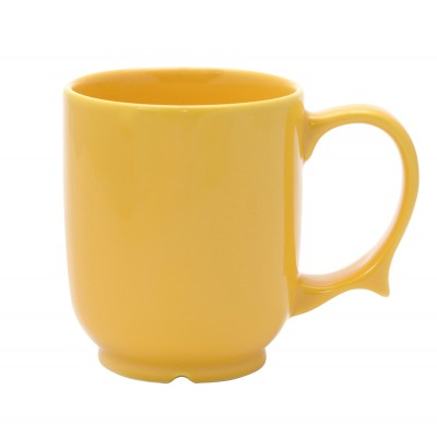 """Dignity"" One handled mug yellow"