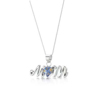 Forget-me-not Silver Mum Pendant