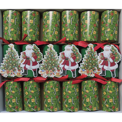 Father christmas and christmas tree crackers